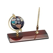 "Elegance 3"" Gemstone Globe Desk-Top Pen Holder with Pen"