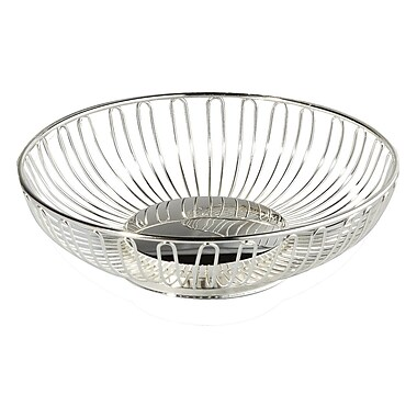 Elegance Silver Oval Wirebasket
