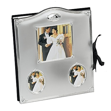 Elegance Wedding Rings with Crystal Photo Album