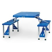 Picnic Time Outdoor Furniture Picnic Table; Royal Blue