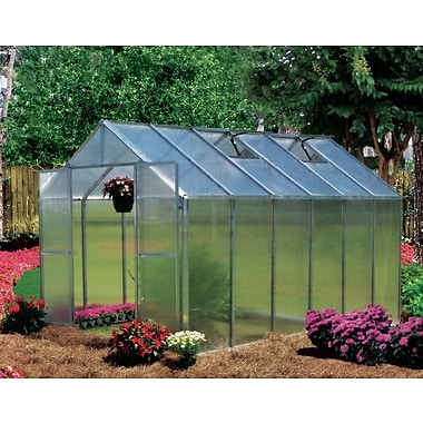 Riverstone Industries Corporation Monticello 8 Ft. W x 12 Ft. D Hobby Greenhouse; Aluminum