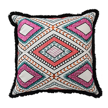 Blissliving Home Mexico City Poncho Cotton Throw Pillow