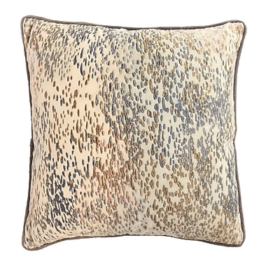 Blissliving Home Mexico City Culturas Decorative Cotton Throw Pillow; Neutral