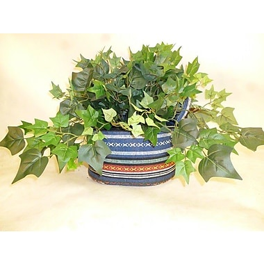 LCGFlorals Deluxe Greenery Fabric Basket