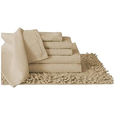 Luxury Home Super Plush Egyptian Quality Cotton 7 Piece Towel Set; Taupe