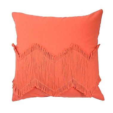 Blissliving Home Mexico City Puebla Decorative Cotton Throw Pillow; Orange