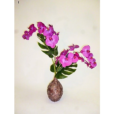 LCGFlorals Orchid Duo Leaf Deco
