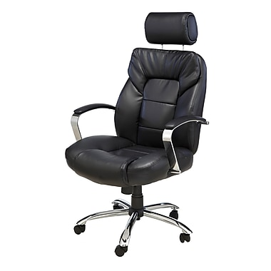 Comfort Products Commodore Ii And Tall Leather Executive Chair Black