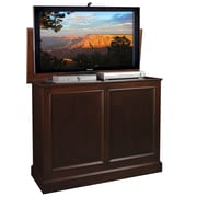 TVLIFTCABINET, Inc Carousel TV Stand; Brown