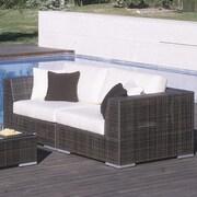 Hospitality Rattan Soho 2 Piece Deep Seating Group w/ Sunbrella Cushions; Canvas Camel