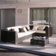Hospitality Rattan Soho 6 Piece Deep Seating Group w/ Sunbrella Cushions; Spectrum Cilantro