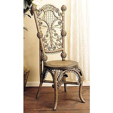 Yesteryear Ladies Reception Side Chair; Brownwash