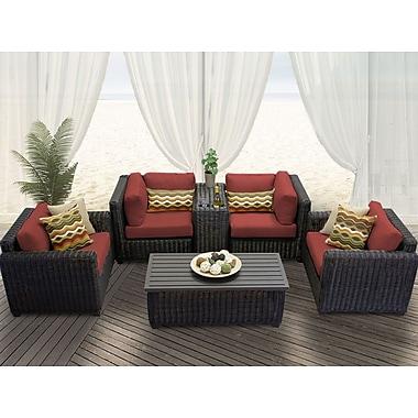 TK Classics Venice 6 Piece Deep Seating Group w/ Cushion; Terracotta