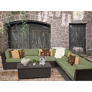 TK Classics Barbados 8 Piece Sectional Seating Group w/ Cushion; Cilantro