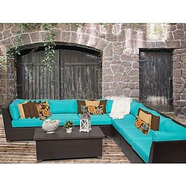TK Classics Barbados 8 Piece Sectional Seating Group w/ Cushion; Aruba