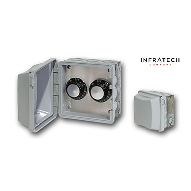 Infratech INF Double In-Wall Waterproof Control Thermostat