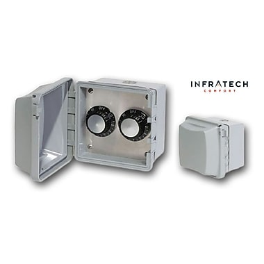Infratech INF Surface Mount Waterproof Double Control Thermostat