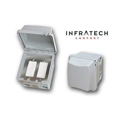 Infratech Double Surface Mount Waterproof Duplex Switch