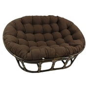 International Caravan Rattan Double Papasan Chair w/ Micro Suede Cushion; Chocolate