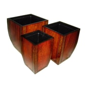 Cheungs 3-Piece Laminate Wood Pot Planter Set