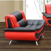 Beverly Fine Furniture Lena Chair; Black / Red