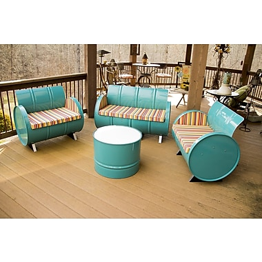 Drum Works Furniture Outer Banks 4 Piece Seating Group w/ Sunbrella Cushions