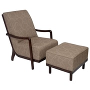 Carolina Accents Manhattan Fabric Lounge Chair and Ottoman