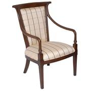Carolina Accents Velvet Fabric Arm Chair w/ Steel Legs