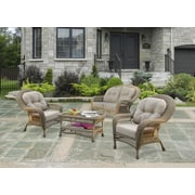 W Unlimited Saturn 4 Piece Seating Group with Cushions