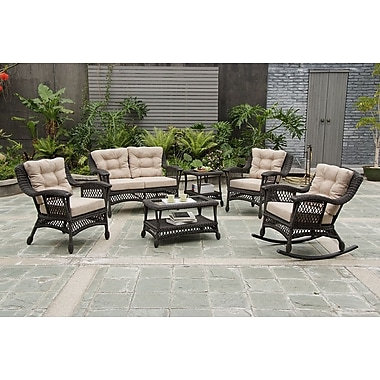 W Unlimited Moon 6 Piece Seating Group with Cushions