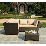 W Unlimited Infinity 5 Piece Seating Group Set with Cushion