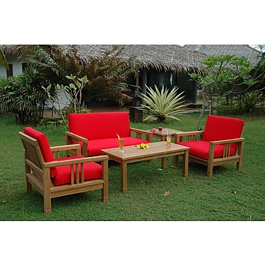 Anderson Teak South Bay 5 Piece Deep Seating Group w/ Sunbrella Cushions