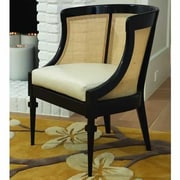 Global Views Cane Cowhide Leather Barrel Chair
