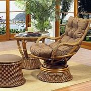 Boca Rattan Biscayne Woven Rattan Chair; 663