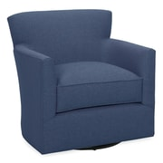 Tory Furniture Rowan Swivel Arm Chair; Navy