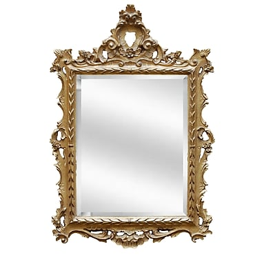 Hickory Manor House Regents Mirror; Ornate Gold
