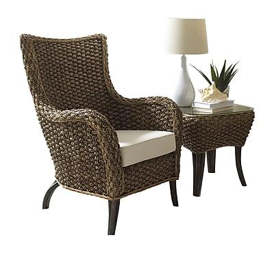 Panama Jack Sunroom Sanibel 2 Piece Wingback Chair Set; Canvas Spa