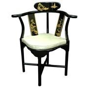 Oriental Furniture Corner Fabric Arm Chair