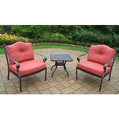 Oakland Living Berkley 3 Piece Deep Seating Group w/ Cushions