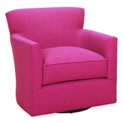 Tory Furniture Rowan Swivel Armchair; Fuchsia