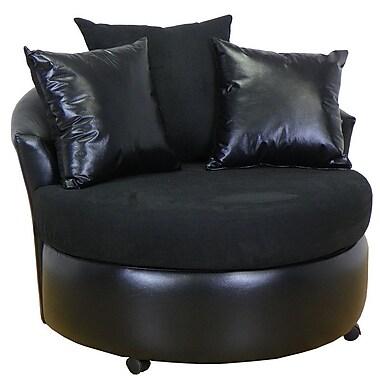 Piedmont Furniture Ella Barrel Chair; Bulldozer Black / San Marino Black