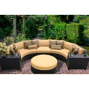 TK Classics Barbados 6 Piece Sectional Seating Group w/ Cushion; Sesame
