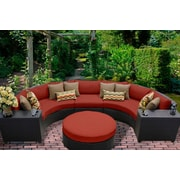 TK Classics Barbados 6 Piece Sectional Seating Group w/ Cushion; Terracotta