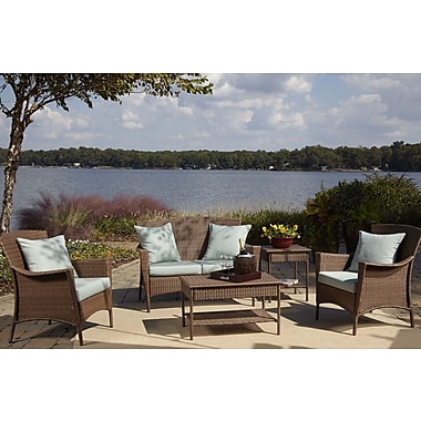 Panama Jack Key Biscayne 5 Piece Deep Sunbrella Seating Group w/ Cushions; Canvas Spa