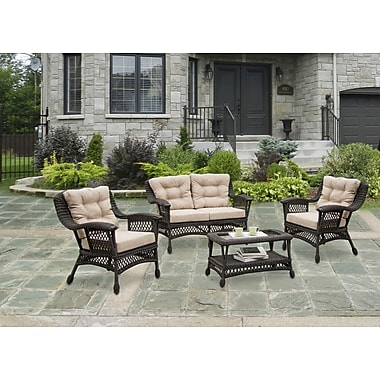 W Unlimited Moon 4 Piece Seating Group Set with Cushion