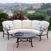 Meadow Decor Milano 2 Piece Sectional Seating Group w/ Cushions; C Grade