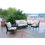 Meadow Decor Roma 5 Piece Deep Seating Group w/ Sunbrella Cushions; B Grade