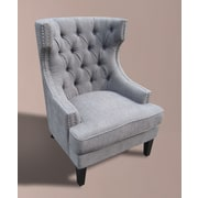 MOTI Furniture Occassional Wingback Chair; Gravel