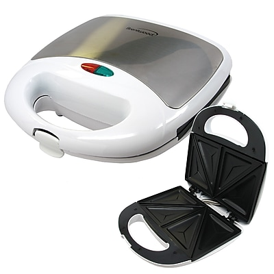 Brentwood 750 W Non-Stick Sandwich Maker, White