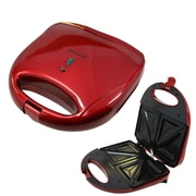Brentwood 750 W Non-Stick Sandwich Maker, Red